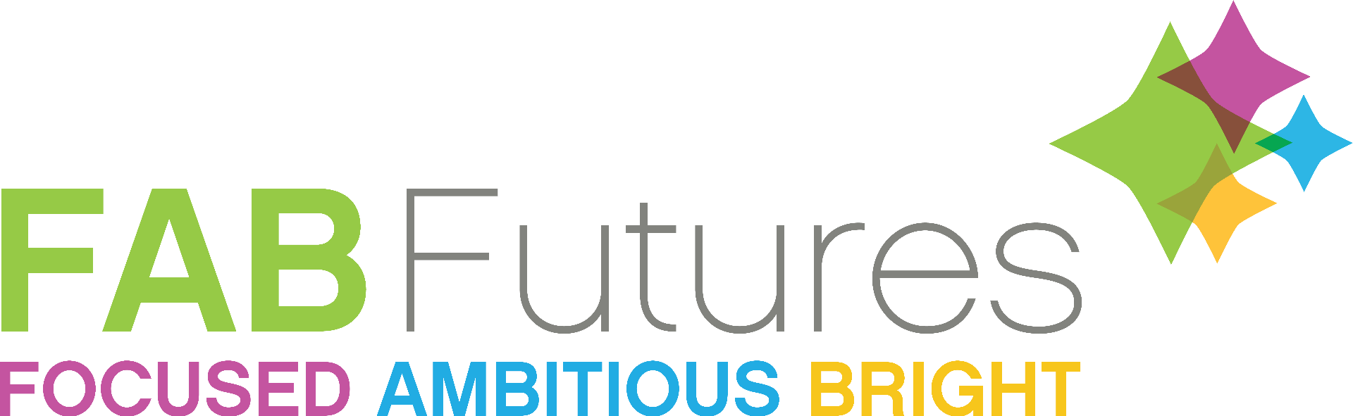 FAB Futures, FOCUSED AMBITIOUS BRIGHT Logo